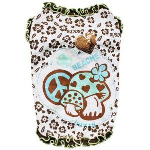 犬の服 春 夏 新作 キノコパッチタンク グリーン beache ビーチェ 数量限定品 タンクトップ 洋服 ドッグウェア|ciera|02
