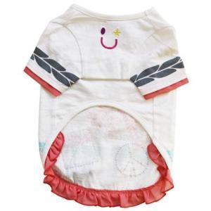 犬の服 春 夏 新作 インディアンTEE ホワイト beache ビーチェ 数量限定品 Tシャツ 洋服 ドッグウェア|ciera|03