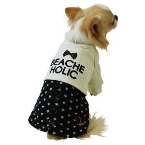 秋冬 新作 犬の服 重ね着風トレーナー グレー BEACHE HOLIC ビーチェ ホリック 洋服 ドッグウェア|ciera|06