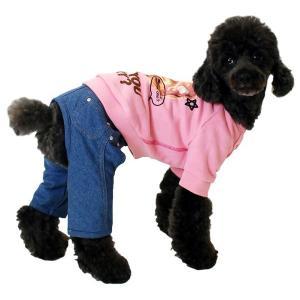 秋冬 新作 犬の服 パンケーキFACEトレーナー ピンク BEACHE HOLIC ビーチェ ホリック 洋服 ドッグウェア|ciera|04