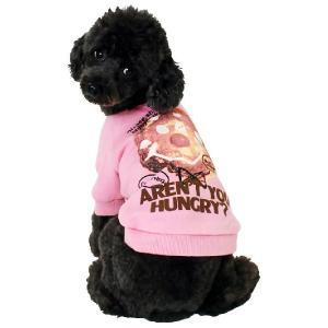 秋冬 新作 犬の服 パンケーキFACEトレーナー ピンク BEACHE HOLIC ビーチェ ホリック 洋服 ドッグウェア|ciera|06