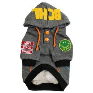 秋冬新作 犬の服 WORLDパーカー グレー BEACHE HOLIC ビーチェ ホリック 洋服 ドッグウェア ciera 03