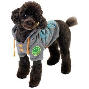 秋冬新作 犬の服 WORLDパーカー グレー BEACHE HOLIC ビーチェ ホリック 洋服 ドッグウェア ciera 04