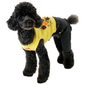 秋冬 新作 犬の服 お出掛けオールインワン イエロー BEACHE HOLIC ビーチェ ホリック 洋服 ドッグウェア|ciera|04