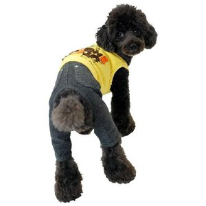 秋冬 新作 犬の服 お出掛けオールインワン イエロー BEACHE HOLIC ビーチェ ホリック 洋服 ドッグウェア|ciera|05