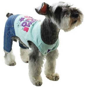 秋冬 新作 犬の服 お出掛けオールインワン ブルー BEACHE HOLIC ビーチェ ホリック 洋服 ドッグウェア|ciera|04