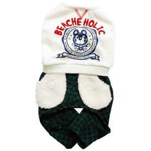 秋冬 新作 犬の服 マシューつなぎ アイボリー BEACHE HOLIC ビーチェ ホリック 洋服 ドッグウェア ciera 02