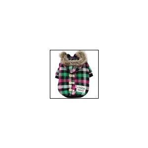 犬の服 秋冬 新作 チェックネル中綿ジャケット ピンク×グリーン BEACHE HOLIC ビーチェ ホリック ダウン ジャケット アウター|ciera