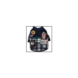 犬の服 秋 冬 ワッペン中綿ジャケット ネイビー BEACHE HOLIC ビーチェホリック ジャケット アウター|ciera