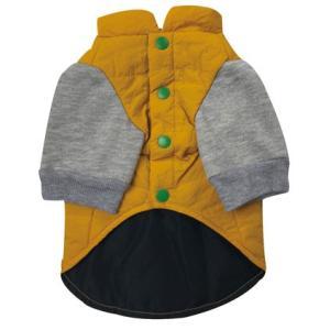犬の服 秋 冬 重ね着風中綿ジャケット ブラウン BEACHE HOLIC ビーチェホリック ジャケット アウター|ciera|03