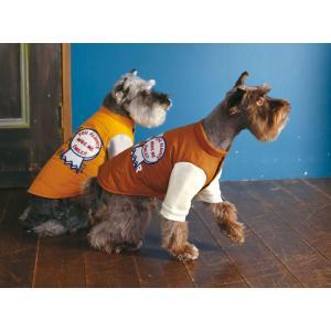 犬の服 秋 冬 重ね着風中綿ジャケット ブラウン BEACHE HOLIC ビーチェホリック ジャケット アウター|ciera|04