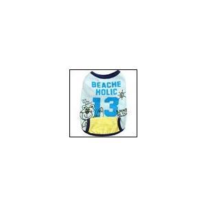 春 夏 犬の服 クール加工 バンダナ付BEACHタンク サックス BEACHE HOLIC ビーチェ ホリック 洋服 ドッグウェア|ciera