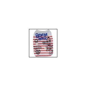犬の服 春 夏 新作 ラビットボーダーパイルタンク レッド BEACHE HOLIC ビーチェホリック 洋服 ドッグウェア|ciera