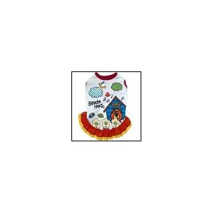 犬の服 春 夏 フラワーフリルタンク レッド BEACHE HOLIC ビーチェホリック 洋服 ドッグウェア|ciera