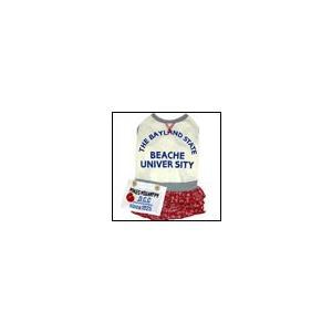 犬の服 春 夏 バンダナ柄ワンピース レッド BEACHE HOLIC ビーチェホリック 洋服 ドッグウェア|ciera