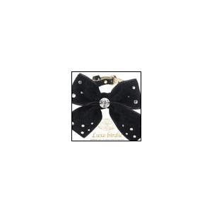 犬の首輪 Luxe birdie Luxeシェニールリボンカラー ブラック リュクスバーディ|ciera