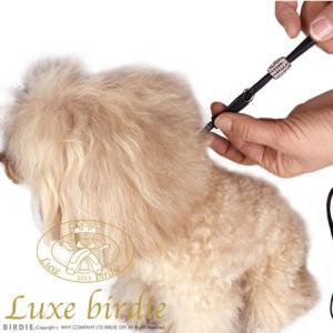 犬の首輪リード Luxe birdie ロンデル首輪リード ブラック リュクスバーディ|ciera|03