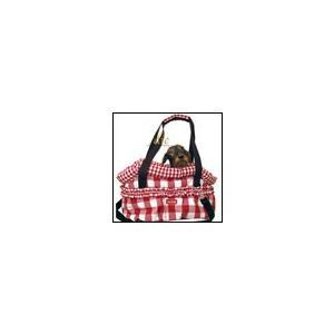 犬のキャリーバッグ Luxe birdie ギンガムピクニックキャリー レッド リュクスバーディ|ciera