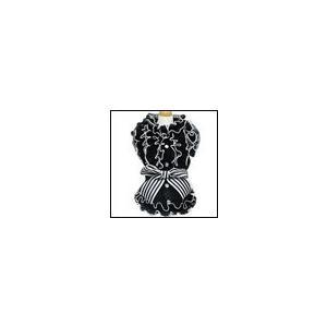 犬の服 春 夏 新作 ひんやり クークチュール クール×クールプラス Cool×Cool Plus モノトーンフリルブラウス ブラック クールウェア 洋服 ドッグウェア|ciera