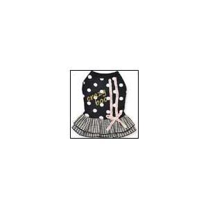 犬の服 秋 冬 新作 ギンガムフリルワンピース ブラック crazy boo クレイジーブー 洋服 ドッグウェア|ciera