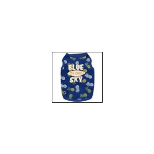 犬の服 春 夏 新作 パインメッシュクールタンク ブルー D's CHAT ディーズチャット クールウェア 洋服 ドッグウェア|ciera
