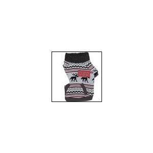 犬の服 秋 冬 新作 DSCノルディック柄セーター グレー D's CHAT ディーズチャット 洋服 ドッグウェア|ciera