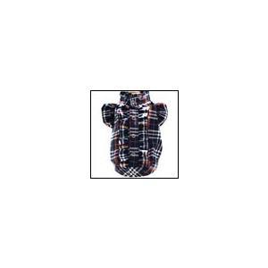 犬の服 秋 冬 GODPIVA フリルブラウス レインボーチェック ネイビー ゴッドピヴァ 洋服 ドッグウェア|ciera