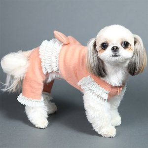犬の服 秋 冬 GODPIVA あったかふわふわロンパース ピンク ゴッドピヴァ 洋服 ドッグウェア|ciera|04