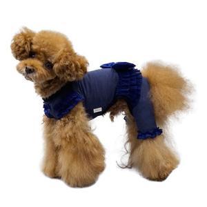 犬の服 秋 冬 GODPIVA テラヘルツリボンロンパース グレー ゴッドピヴァ 洋服 ドッグウェア|ciera|04