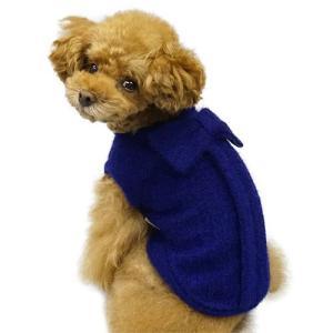 犬の服 秋 冬 GODPIVA ふわふわバックリボンニット ロイヤルブルー ゴッドピヴァ 洋服 ドッグウェア|ciera|04