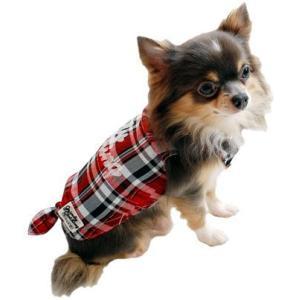 犬の服 春 夏 新作 チェックシャツ レッド grandy グランディ 洋服 ドッグウェア|ciera|05
