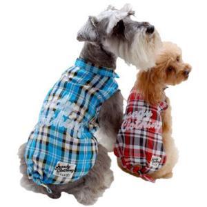 犬の服 春 夏 新作 チェックシャツ ブルー grandy グランディ 洋服 ドッグウェア|ciera|04