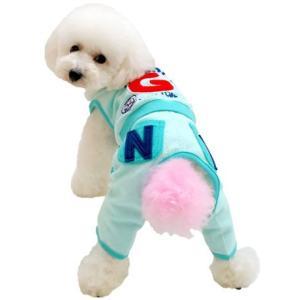 犬の服 春 夏 新作 パイルオールインワン グリーン grandy グランディ 洋服 ドッグウェア|ciera|05