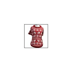 犬の服 秋 冬 新作 クークチュール ヒートワン インナーノルディックTシャツ レッド heat wan Coo Couture 洋服 ドッグウェア|ciera