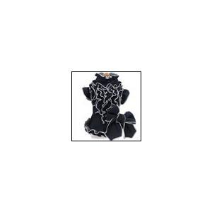 犬の服 秋 冬 クークチュール ヒートワン フリルブラウス デニム heat wan 洋服 ドッグウェア|ciera