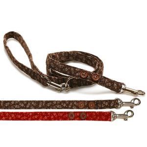 犬用リード フラワーリード 犬と生活 コットン 小型犬|ciera|02