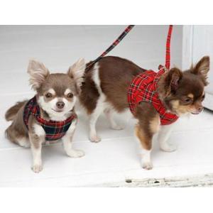 犬の胴輪 ボディーハーネス タータンチェック ネイビー 犬と生活 オーガニックコットン 小型犬|ciera|03