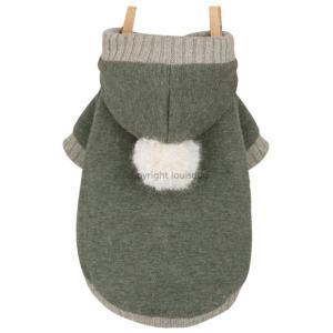 秋 新作 冬 犬の服 ルイスドッグ Louis Dog Organic Hoodigan カーキ パーカー 洋服 ドッグウェア ciera 02