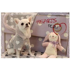 秋 新作 冬 犬の服 ルイスドッグ Louis Dog Hearts Plz Hoodie ホワイトハート パーカー 洋服 ドッグウェア|ciera|04