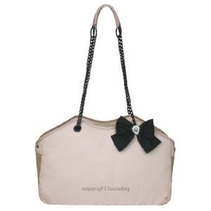 犬のキャリーバッグ ルイスドッグ LOUISEDOG Wow Chain Bag ピンク|ciera|02