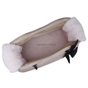 犬のキャリーバッグ ルイスドッグ LOUISEDOG Wow Chain Bag ピンク|ciera|03