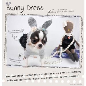 秋 新作 冬 犬の服 ルイスドッグ Louis Dog Bunny Dress グレー ワンピース 洋服 ドッグウェア|ciera|04