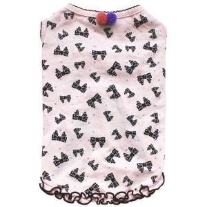 犬の服 春 夏 新作 ラメリボンタンク ピンク mimile ミミル タンクトップ 洋服 ドッグウェア|ciera|02