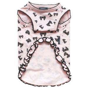 犬の服 春 夏 新作 ラメリボンタンク ピンク mimile ミミル タンクトップ 洋服 ドッグウェア|ciera|03