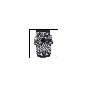 秋 冬 犬の服 PINKAHOLIC ピンカホリック REINDEER 2 ネイビー パーカー 洋服 ドッグウェア|ciera