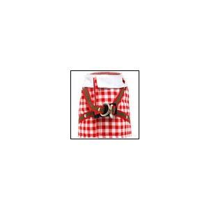 猫用ハーネス ハンドルベスト ギンガムセーラー レッド 猫の暮らし オーガニックコットン|ciera