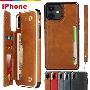 iPhone12 ケース カード収納 ストラップ付き レザー iPhone11 スマホケース iPhone SE XR iPhone8 mini XS Pro Max SE2 第2世代  iPhoneケース|CINC SHOP PayPayモール店