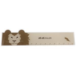 mimi RULER ライオン どうぶつ耳付き 定規 アニマル サカモトの商品画像 ナビ