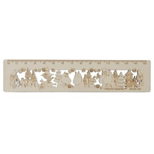 ムーミン 北欧 グッズ 木製 15cm 定規 ものさし MU20SS B サンスター文具