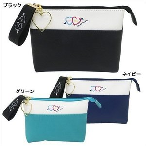 CAPRICIEUX W角ポーチ HEART ARROW コスメポーチ ギフト雑貨 グッズ アルディ 17×12.5×3.5cm|cinemacollection
